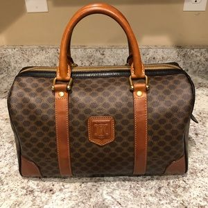 Vintage authentic Celine Boston bag